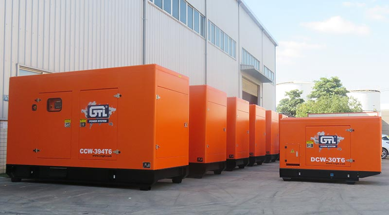 13 sets silent diesel generators, 5 sets screw air compressors and lighting tower shipped to North America.